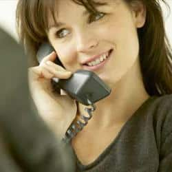 Online counselling using home telephone.