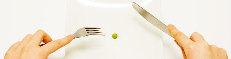 Sufferers of Anorexia Nervosa often restrict the amount they eat.