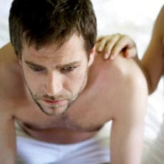 Most men keep quiet about their problem because they are too embarrassed to tell their partner or seek help.
