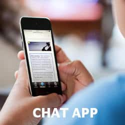 Online counselling via smart phone's chat app.