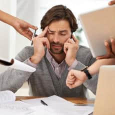 A common cause of stress is too little work or too much work.